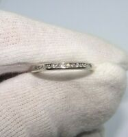 Stunning 10ct white gold channel set Diamond ring