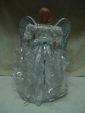 Vintage Christmas Lighted Angel Tree Topper Light In Both Hands