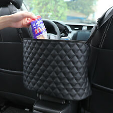 Car Storage Net Pocket Organizer Accessories PU Leather Bag Large Handbag Holder