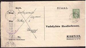 1935 Lithuania Radiofonas questionnaire sent from Ukmerge slogan Kaunas postmark