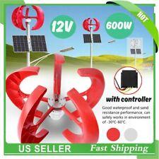 12V 600W 5Blade Lantern Vertical Wind Turbine Generator Kit Electricity Producer