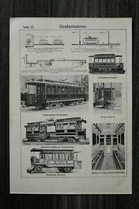Blatt Straßenbahn 1903-10 Berlin Druckluft Elektrisch Elekt Omnibus Technik Tram