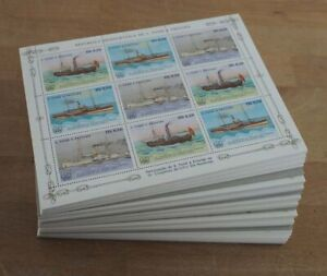 1984 Sao Tome; 500 Kleinbögen Schiffe, MiNr. 906/08, postfrisch/MNH, ME 5000,-