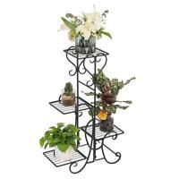 Metal Plant Stand Wrought Iron Flower Pot Shelves Outdoor Indoor Garden