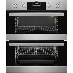 AEG Electric Built Under Double Oven with Catalytic Liners - Stainless Steel