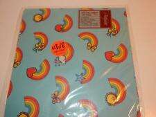 Vintage Rainbow Gift Wrap 1980s Wrapping Paper Artfaire Rainbows Sealed