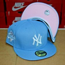 """New Era 59Fifty New York Yankees Fitted Hat """"Cotton Candy"""" Pink Uv New"""