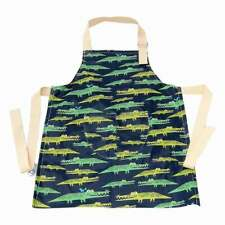 Childrens Apron Waterproof laminated organic cotton crocodiles