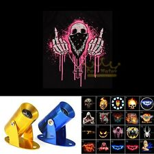 Pink Middle Finger Skull Logo Motorcycle Ghost Shadow Laser Projector LED Light
