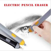 Electric Pencil Eraser Highlight Sketch Art Drawing+Eraser Refills Replacement