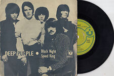 "DEEP PURPLE BLACK NIGHT/ SPEED KING VERY RARE 1970 RECORD INDIA 7"" PS"