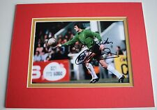Ray Clemence Signed Autograph 10x8 photo mount display Liverpool Football COA