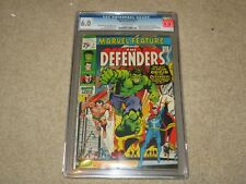 Marvel Feature #1 Origin 1st App Defenders CGC 6.0 Marvel 1971 Off-White Pages