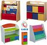 Childrens/Kids Wooden Bookcase Rack Storage Book-Shelf Tidy Bedroom/Playroom