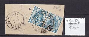 Bosnia Herzeg - 1881 -  Michel 5I pair  - SERAJEVO/Constantinopol -  120 Euro