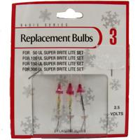2.5 Volt Christmas Light Bulbs FLASHERS For 50 100 + Super Brite 1 Pk of 3, 2.5v