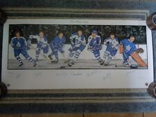 "THE MAPLE LEAFS LITHOGRAPH (7) AUTOGRAPHS 39"" x 18"" TORONTO MAPLE LEAFS"