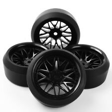 4X RC Drift Tires Wheel Rims 6mm Offset Fit HSP HPI 1:10 On-Road Car 12mm hex