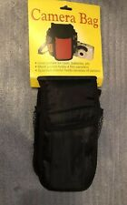 Camera Bag For Small Cameras Mesh Pockets New Old Stock Black