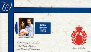 Sierra Leone 2013 MNH Birth Prince George Royal Baby 1v S/S William Kate Windsor