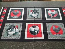 Rooster Royale Panel Block Saturday Evening Post Quilting Treasure 23x43 Chicken
