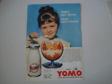 advertising Pubblicità 1963 YOGURT YOMO