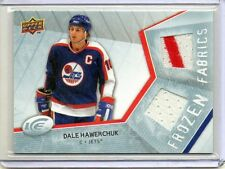 DALE HAWERCHUK Jets 2008/09 Upper Deck Ice Frozen Fabrics Dual Jersey / 2 Color