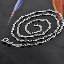 45cm White Gold Filled 9K GF Womens Chain Necklace,2mm Wide,J0599
