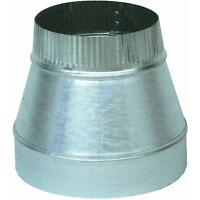 "Galvanized 8"" To 7"" 24 Ga X 6"" Long Furnace Heat Stove Pipe Reducer GV1352"