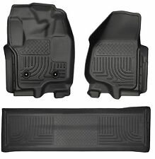 2012-2016 Ford F-250/F-350/F-450 Crew Black Husky WeatherBeater Floor Mats F250