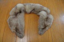 "Vintage 1960's Silver Fox Fur Shawl Scarf Aladino Stefani Originals Approx 37"""