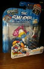 THE SMURFS COLLECTIBLE FIGURE~SWAPP Z.~Smurfette W/Backpack Clip & Power Up Co
