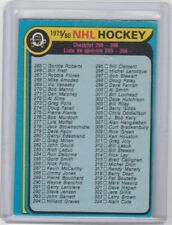 1979-80 OPC O Pee Chee Checklist Unmarked #346 Wayne Gretzky Rookie Set