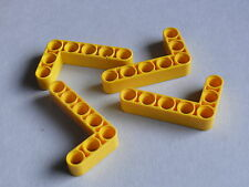 Lego 4 bras levier jaune 8069 10247 42000 8146 /4 yellow liftarm 3 x 5L thick