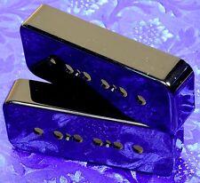 2x Lindy Fralin Premium Black P90 P-90 Soap Bar Pickup Cover! The BEST! Set of 2