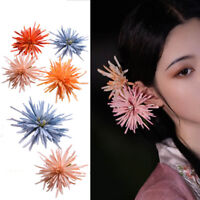 3pcs Chrysanthemum Flower Hair Clip Hairpin for Kimono Hanfu Hair Access Vintage