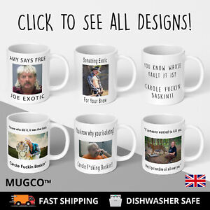 Personalised Birthday Carole Fckin Baskin Mug- Tiger King Xmas secret Santa Gift