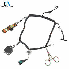 Fly Fishing Lanyard with Accessories Forceps Tippet Holder Nipper Bottle Holder