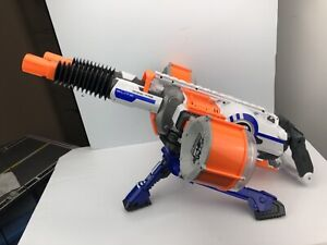 NERF N-Strike Elite Rhino-Fire Blaster With Tripod & Mags For Parts Not Working