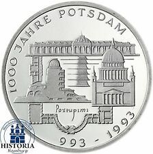 BRD 10 DM 1000 Jahre Potsdam 1993 Silber Stempelglanz Münze in Münzkapsel