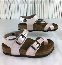 Girls BIRKENSTOCK Taormina kids pearly pink flats sandals shoes 24