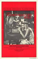 THE STATIONMASTER'S WIFE orig one sheet movie poster RAINER WERNER FASSBINDER