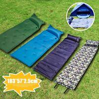 Self Inflating Air Mattress Mat Pad Pillow Sleeping Bed Camping Hiking