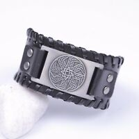 Vintage Slavic Kolowrat Irish Celtic Love Knot Metal Amulet Belt Buckle Bracelet
