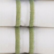 sferra grande hotel king sheet set w king cases white with green embroidery