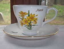 CARDEE WEST CORP. MARCH FLOWER COFFEE CUP & SAUCER SET
