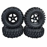 4PCS 96mm RC 1:10 Off-Road Car Beach Rock Crawler Tires Tyre 9mm Offset Wheel