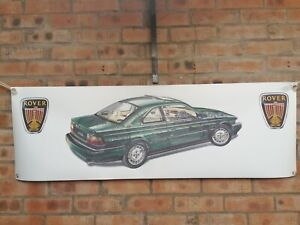 rover 800 COUPE pvc large WORK SHOP BANNER garage car show banner