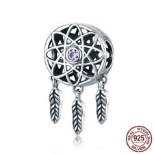 2018 New Arrival 925 Sterling Beautiful Dream Catcher Holder Beads fit Original