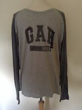 GAP Logo Men's Long Sleeve T-Shirt - M, L, XL -Grey, Blue, Navy -NEW with tag
